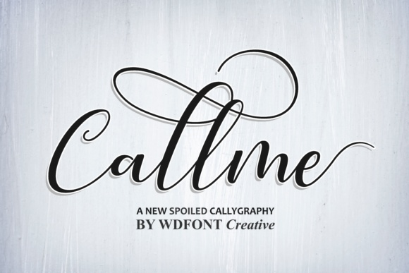 Print on Demand: Callme Script Script & Handwritten Font By wdfont.creative
