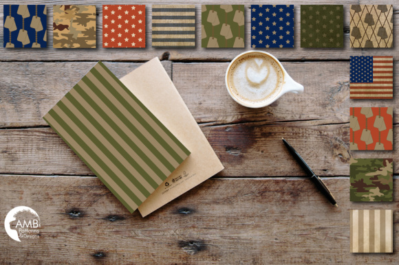 Camo Papers AMB Graphic Patterns By AMBillustrations - Image 2