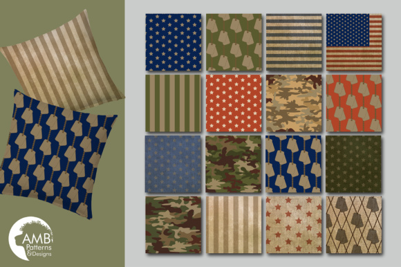 Camo Papers AMB Graphic Patterns By AMBillustrations - Image 3