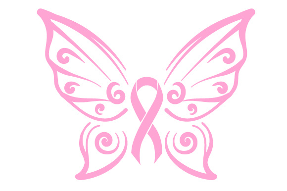 Cancer Awareness Butterfly Ribbon Bewusstsein Plotterdatei von Creative Fabrica Crafts