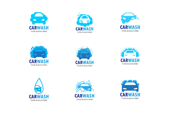 Car Wash Vector Logo Emblem Icon Symbol Emblem Graphic By