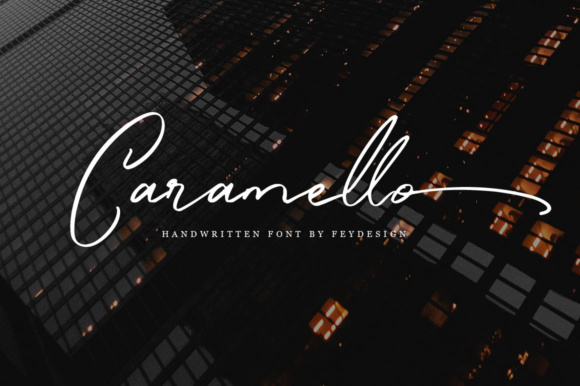 Print on Demand: Caramello Script & Handwritten Font By feydesign
