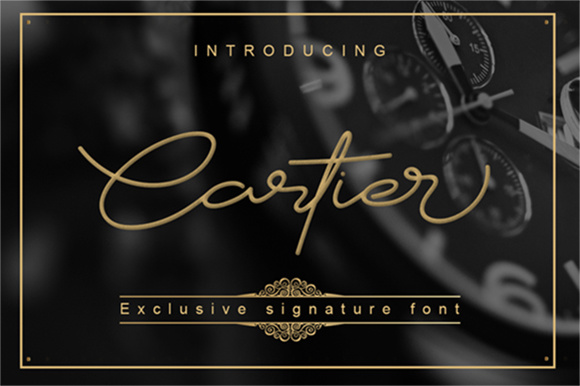 Print on Demand: Cartier Script & Handwritten Font By Graphix Line Studio