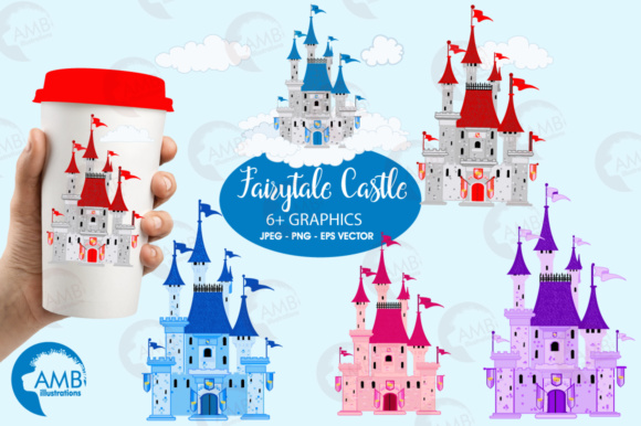 Castles Clipart Graphic Illustrations By AMBillustrations
