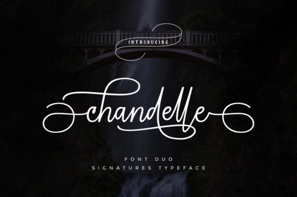 Chandelle Script & Handwritten Font By Cooldesignlab