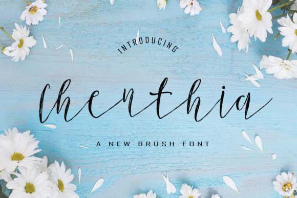 Print on Demand: Chenthia Script & Handwritten Font By typedesign93
