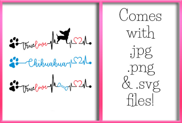 Download Free Chihuahua Heartbeat Design Graphic By Grafix By Kappie for Cricut Explore, Silhouette and other cutting machines.
