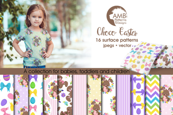 Choc Easter Papers Graphic Patterns By AMBillustrations