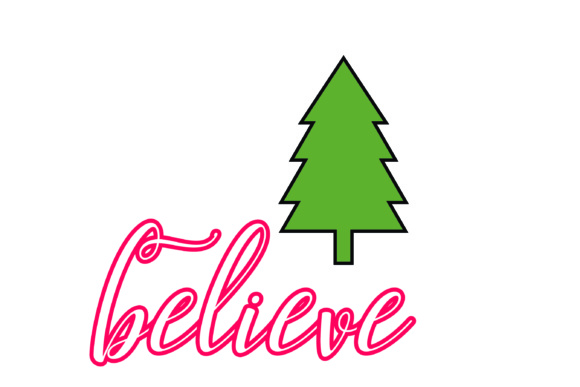 Download Free Christmas Believe Bundle Graphic By Bluestar Creatives for Cricut Explore, Silhouette and other cutting machines.