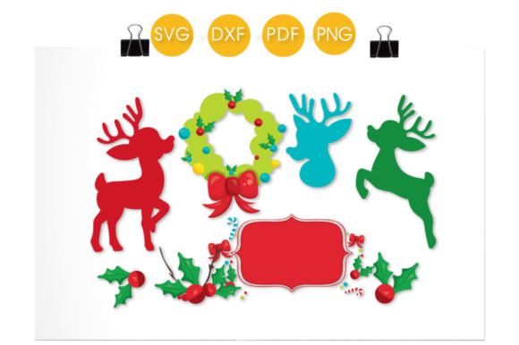 Christmas Deer Accessories Graphic Crafts By PrettyCuttables - Image 2