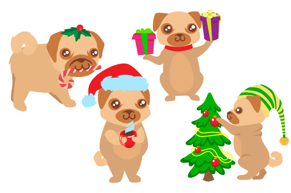 Download Free Set Of 4 Christmas Dogs Svg Cut File By Creative Fabrica Crafts Creative Fabrica for Cricut Explore, Silhouette and other cutting machines.