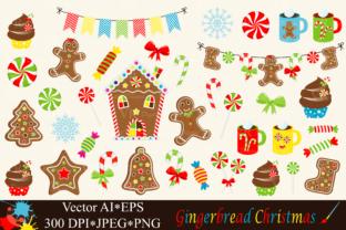 Download Free Christmas Gingerbread Clipart Vector Graphic By Vr Digital Design Creative Fabrica for Cricut Explore, Silhouette and other cutting machines.