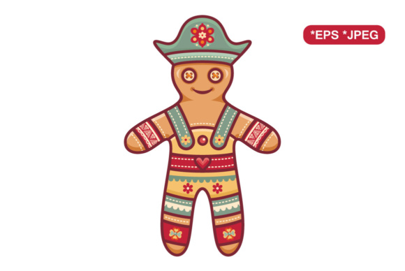Download Free Christmas Gingerbread Man Graphic By Zoyali Creative Fabrica for Cricut Explore, Silhouette and other cutting machines.
