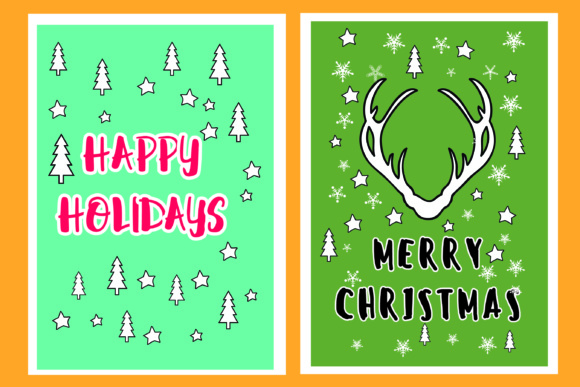 Download Free Christmas Greetings 6 Cards Svg Cut File Graphic By Bluestar for Cricut Explore, Silhouette and other cutting machines.