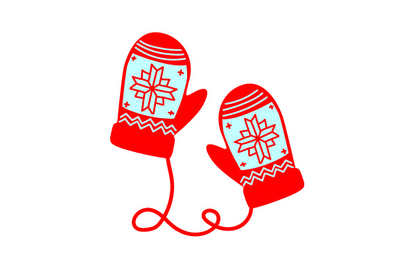 Christmas Mittens Navidad Craft Cut File Por Creative Fabrica Crafts