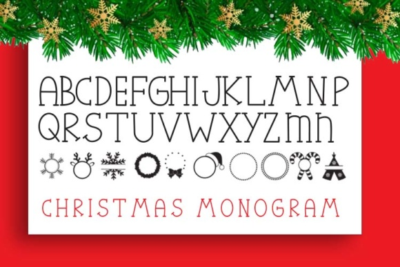 Print on Demand: Christmas Mono Serif Font By Cute files - Image 2