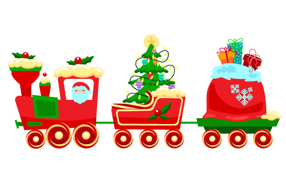 Christmas Train Weihnachten Plotterdatei von Creative Fabrica Crafts