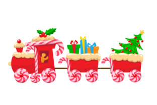 Christmas Train Christmas Craft Cut File By Creative Fabrica Crafts