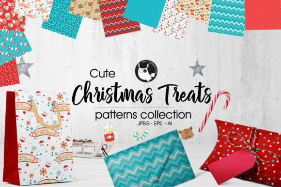 Download Free Christmas Treats Patterns Collections Graphic By Prettygrafik SVG Cut Files