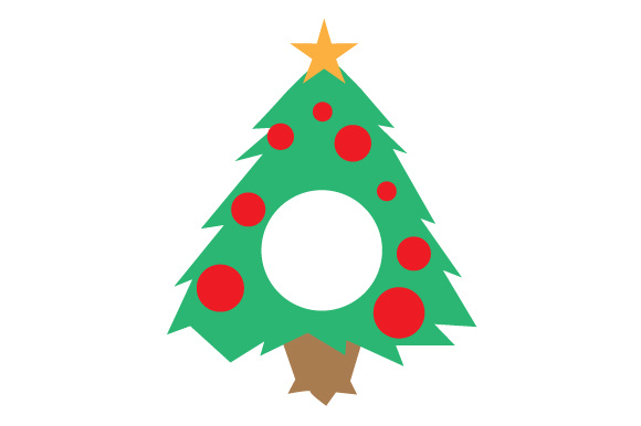 Download Free Christmas Tree Monogram Frame Svg Cut File By Creative Fabrica for Cricut Explore, Silhouette and other cutting machines.