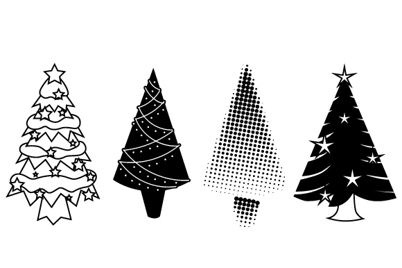 Download Free Set Of 4 Christmas Trees Svg Cut File By Creative Fabrica Crafts for Cricut Explore, Silhouette and other cutting machines.