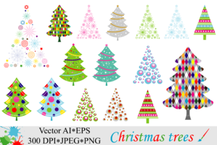 Download Free Christmas Trees Clipart Vector Graphic By Vr Digital Design SVG Cut Files
