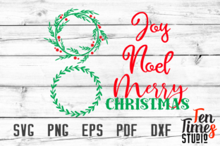 Download Free Christmas Wreath Laurel With Words Noel Joy Merry Christmas Svg for Cricut Explore, Silhouette and other cutting machines.