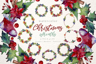 Christmas Collection PNG Watercolor Set Graphic By MyStocks