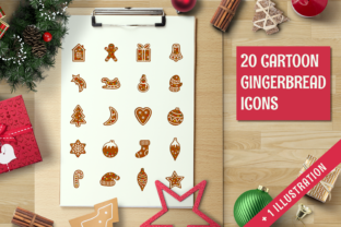 Christmas Gingerbread Icon Set Graphic By butus.cm