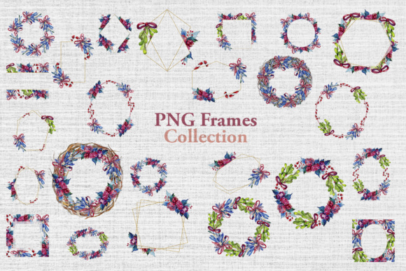Print on Demand: Christmas Winter Holiday PNG Watercolor Set Graphic Illustrations By MyStocks - Image 4
