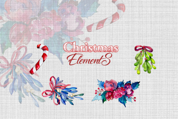 Print on Demand: Christmas Winter Holiday PNG Watercolor Set Graphic Illustrations By MyStocks - Image 9