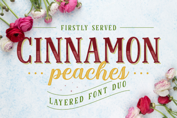 Cinnamon Peaches Family Font By abbasystudio Image 1