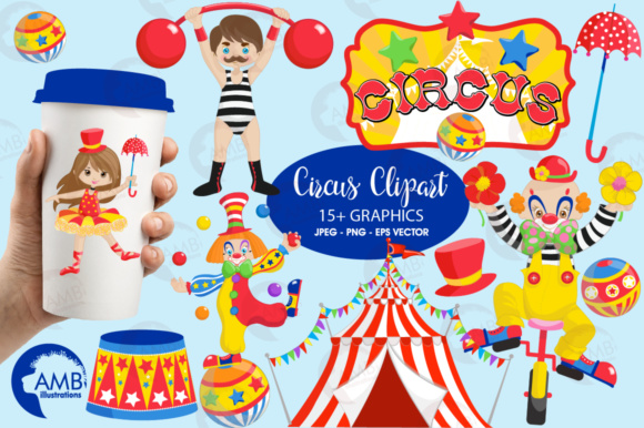 Circus Clipart Graphic Illustrations By AMBillustrations