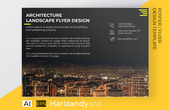 City Arhitecture Landscape Flyer Graphic Print Templates By harizandy - Image 2