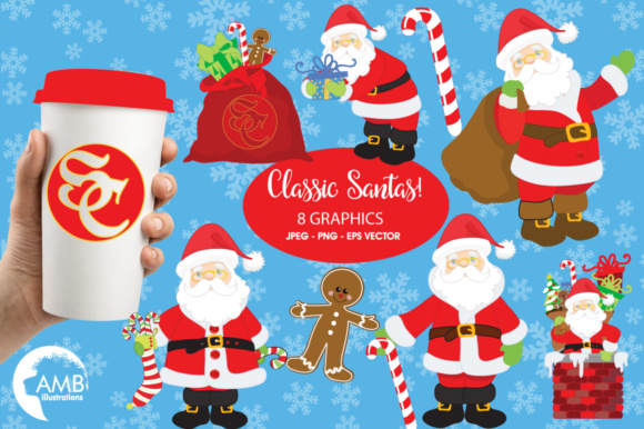 Download Free Classic Santa Clipart Graphic By Ambillustrations Creative Fabrica for Cricut Explore, Silhouette and other cutting machines.