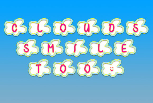 Print on Demand: Clouds Smile Too Dingbats Font By Misti