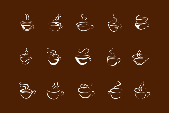 Download Free Coffee Logo Design Vector Template Graphic By Anasofart for Cricut Explore, Silhouette and other cutting machines.