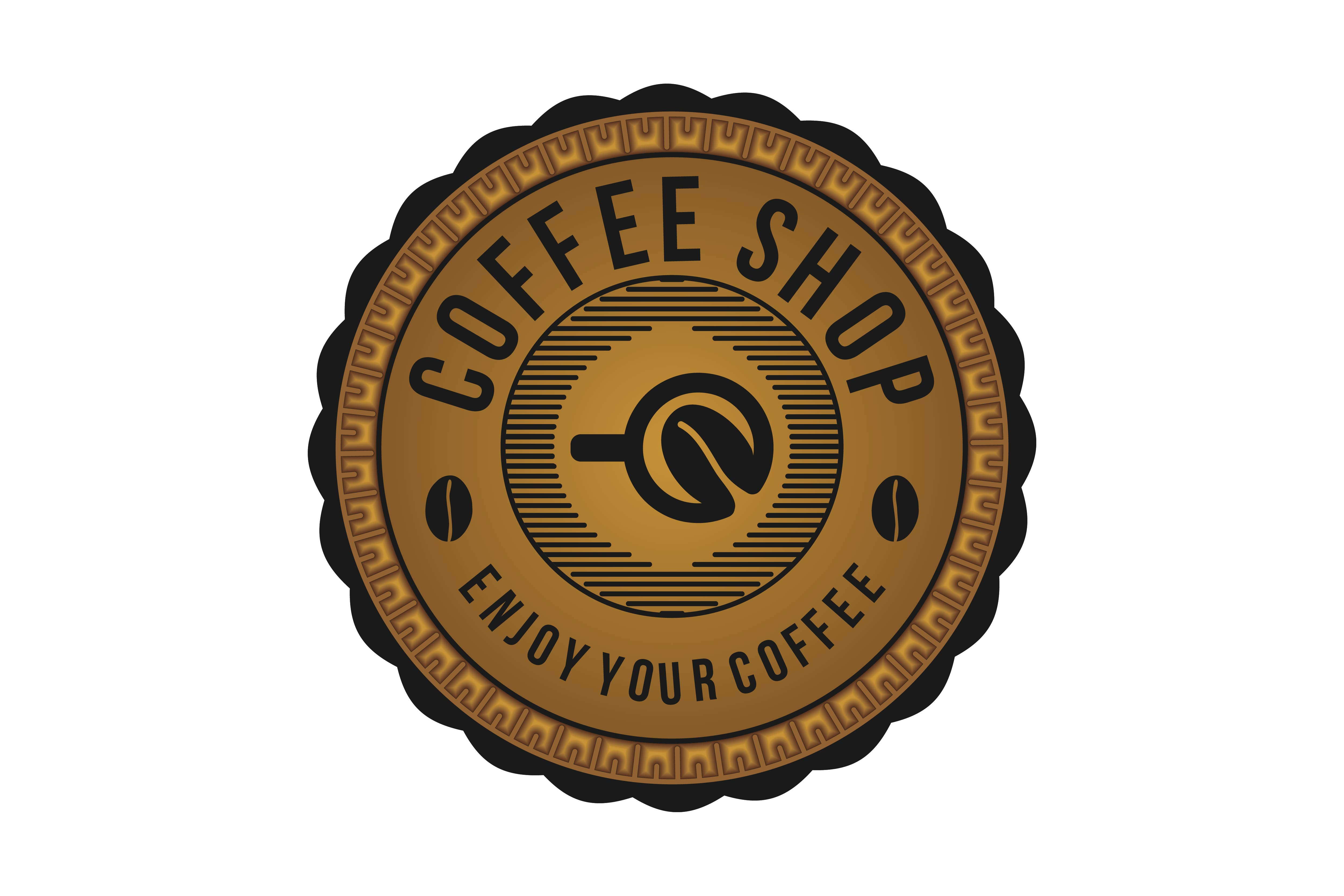 Download Free Coffee Shop Badge Logo Designs Inspiration Vector Illustration for Cricut Explore, Silhouette and other cutting machines.