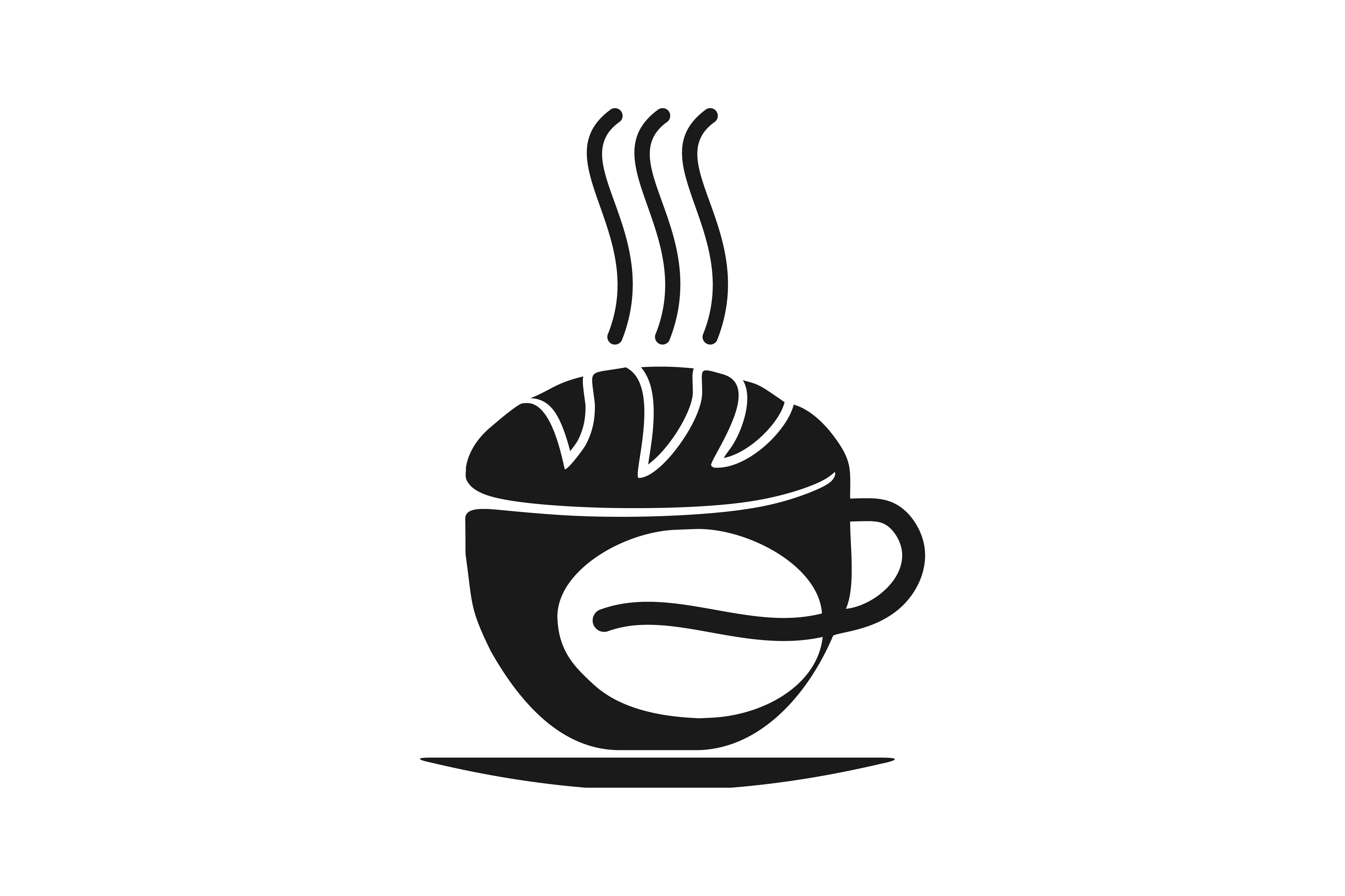 Download Free Coffee Cup Bakery And Coffee Bean Logo Graphic By for Cricut Explore, Silhouette and other cutting machines.