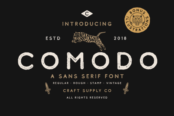 Print on Demand: Comodo Sans Serif Font By craftsupplyco