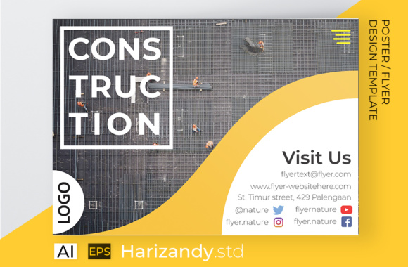 Contruction Flyer Building Graphic Print Templates By harizandy - Image 2