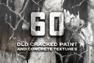 Cracked Paint and Concrete Wall Photo Textures Graphic By Yurlick