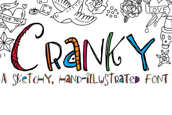 Print on Demand: Cranky Script & Handwritten Font By Illustration Ink