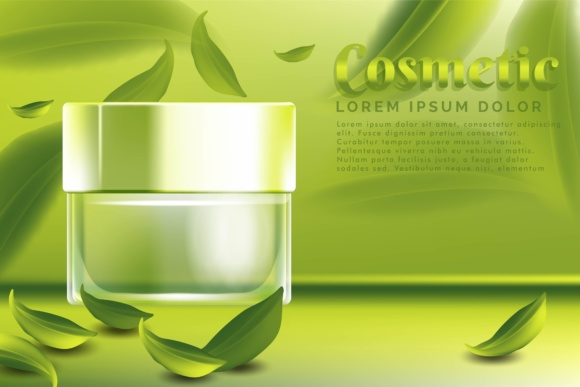 Print on Demand: Cream Jar Cosmetic Products Ad Template Graphic Graphic Templates By yahyaanasatokillah