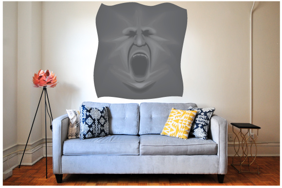 Creepy Wall Cutout - Ghost Escaping Craft Design By Creative Fabrica Crafts Image 1