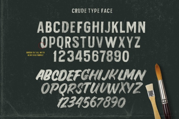 Print on Demand: Crude Color Fonts Font By maghrib - Image 4