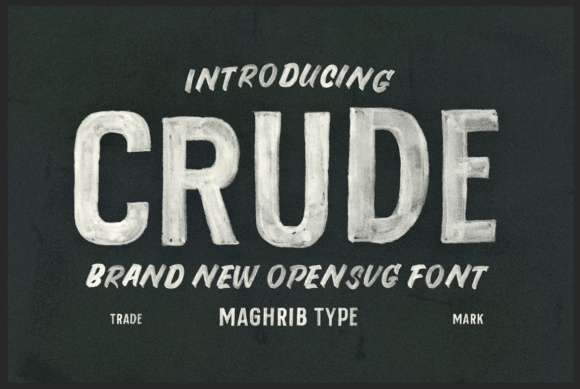 Print on Demand: Crude Color Fonts Font By maghrib