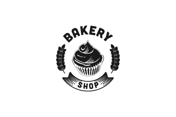 Download Free Cupcake Vintage Bakery Shop Logo Designs Inspiration Vector for Cricut Explore, Silhouette and other cutting machines.