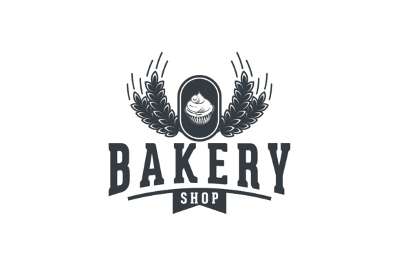 Download Free Cupcake And Wheat Vintage Bakery Shop Logo Graphic By SVG Cut Files