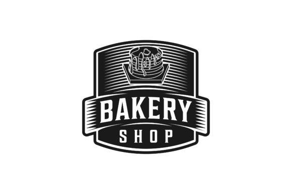 Download Free Cupcake Bakery Shop Logo Design Graphic By Yahyaanasatokillah for Cricut Explore, Silhouette and other cutting machines.